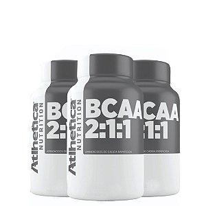 Kit 3x Bcaa Pro Series 2:1:1 120caps Atlhetica