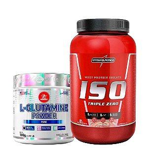 Iso Triple Zero 900g Integralmedica + L-glutamine powder 100g Midway