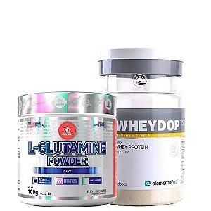WheyDop Iso 900g Elemento Puro + Glutamina 100g Midway