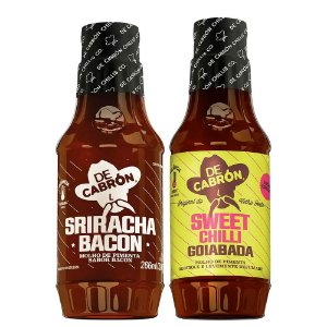 Kit Molho de Pimenta Sriracha Bacon + Sweet Chilli Goiabada De Cadrón