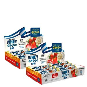 Kit 2 Caixas Whey Grego Bar Nutrata (Cx c/ 12 unidades cada)