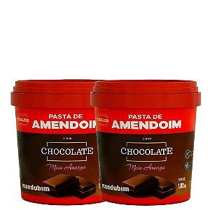 Pasta de Amendoim 1,02kg Chocolate Meio Amargo Mandubim