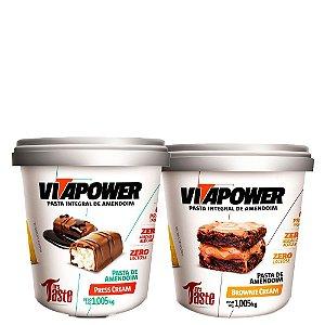 Kit 2un Pasta de Amendoim Press Cream e Brownie 1kg VitaPower