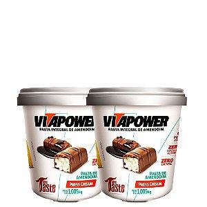 Kit 2 Un Pasta de Amendoim 1,005kg Press Cream VitaPower