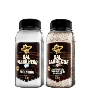 Kit Sal Parrilhero + Sal Barbecue c/ Pimenta 1Kg De Cabron