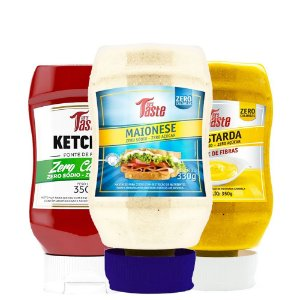 Kit 3 Molho Ketchup + Maionese + Mostarda 350g Mrs taste