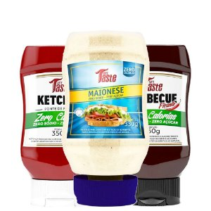 Kit 3 Molho Ketchup + Barbecue + Maionese 350g Mrs taste