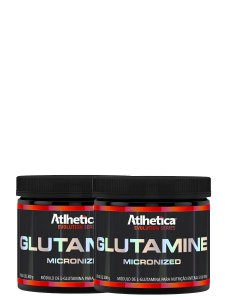 Kit 2x Glutamine Micronized 300g - Atlhetica