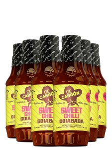 Kit 6x Sweet Chilli Goiabada 266ml De Cabrón