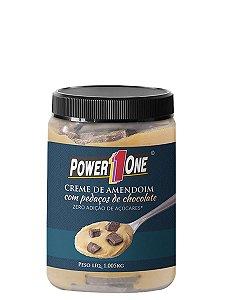 Creme de Amendoim com Pedaços de Chocolate 1kg Power One - Lançamento