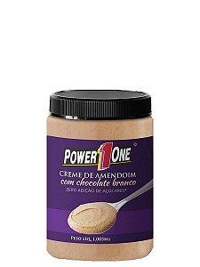 Creme de Amendoim com Chocolate Branco 1Kg - Power One - Lançamento