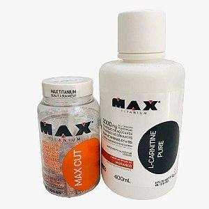 Max Cut 60 Caps + LCarnitine Pure 400ml