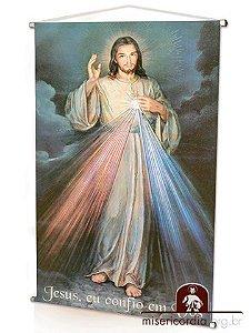 BANNER JESUS MISERICORDIOSO - PINTURA DE PIOTR MOSKAL