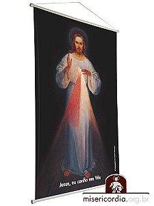 BANNER JESUS MISERICORDIOSO - PINTURA DE EUGENIUSZ KAZIMIROWSKI