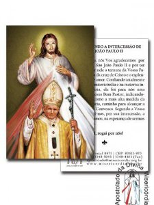 SANTINHO JESUS MISERICORDIOSO E SÃO JOÃO PAULO II
