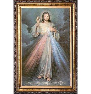 QUADRO JESUS MISERICORDIOSO RESINADO - IMAGEM ITALIANA