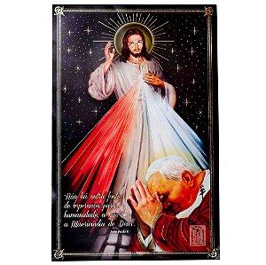 QUADRO DE JESUS MISERICORDIOSO E SÃO JOÃO PAULO II