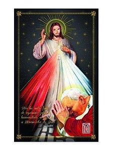 PÔSTER JESUS MISERICORDIOSO E SÃO JOÃO PAULO II