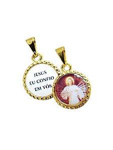 MEDALHA JESUS MISERICORDIOSO DUPLA FACE