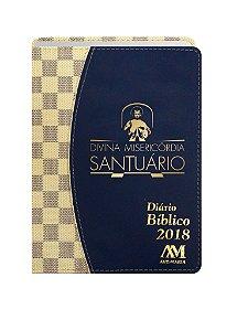 DIÁRIO BÍBLICO 2018 LUXO - AZUL XADREZ