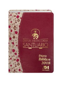 DIÁRIO BÍBLICO 2018 LUXO - VERMELHO FLORA
