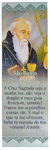 MARCA PÁGINA COM GLITTER - SÃO BENTO