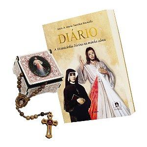 Diário de Santa Faustina - A Misericórdia Divina na Minha Alma + Terço Brinde