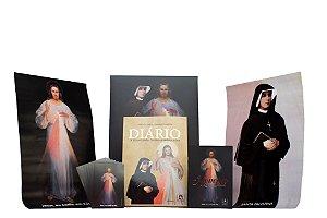 BOX AMOR E MISERICÓRDIA: Diário de Santa Faustina (CAPA DURA) e mais quatro itens