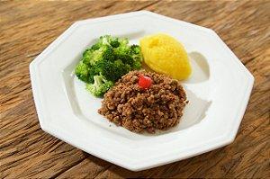 MENU 1 - Patinho moído, purê de mandioquinha e brócolis - 300g