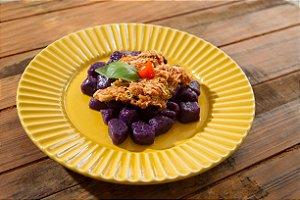 MENU 38 - Gnocchi de batata doce roxa com frango - 300g