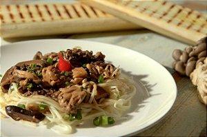 Spaghetti de palmito pupunha com shiitake, shimeji e funghi - 300g