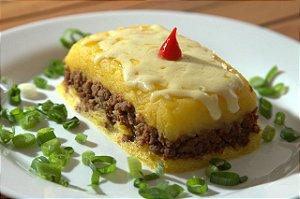 Escondidinho de mandioquinha com proteína de soja e queijo - 350g