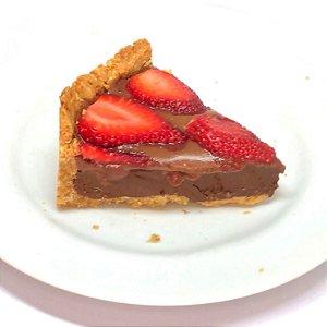 """Torta de Pote Fudge Fit de Ganache Belga, """"Nutella"""" e Morango (Low Carb e Vegana) 180g"""