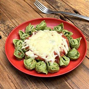 Capeletti integral de espinafre com recheio de carne ao sugo e queijo - 350g