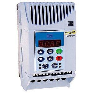 Inversor 1CV Monofásico 220Vca Corrente Nominal de Saída: 4A WEG CFW080040S2024PSZ