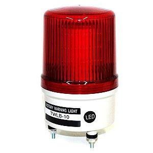 Sinalizador EMERGÊNCIA Rotativo LED+BUZZER - 220VCA - VERMELHO TWLB-10L2R METALTEX