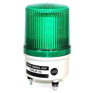 Sinalizador EMERGÊNCIA Rotativo LED+BUZZER - 24V TWLB-10L7G METALTEX