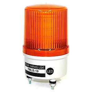 Sinalizador EMERGÊNCIA Rotativo LED+BUZZER - 24V - LARANJA TWLB-10L7O METALTEX