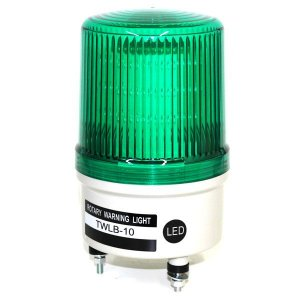 Sinalizador EMERGÊNCIA Rotativo LED+BUZZER - 12V VERDE TWLB-10L9G METALTEX