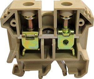 CONECTOR DE PASSAGEM 16MM P/ TRILHOS TS32 E TS35 - BEGE MTB16EN