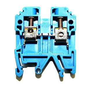 CONECTOR DE PASSAGEM 6MM P/ TRILHOS TS32 E TS35 - AZUL MTB6EN-AZ