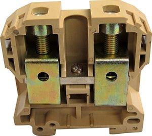 CONECTOR DE PASSAGEM 70MM P/ TRILHOS TS32 E TS35 - BEGE MTB70EN