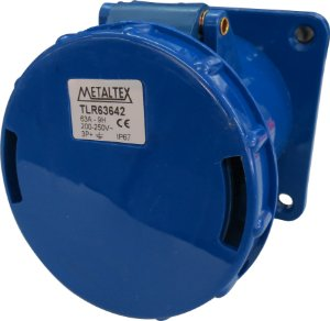 TOMADA PAINEL 63A 3P+E-9H AZUL TLR63642