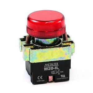 SINALEIRO LED 22MM - 220V - VERMELHO M20PR-R