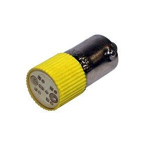 LED AMARELO BA9S - 110VCA/VCC L1-1-Y