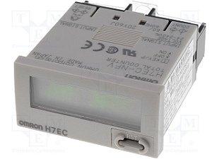 totalizador omron, display de 8 digitos, alimentação por bateria, entradas AC/DC multi voltage,  conexão por parafusso,  H7EC-NFV-B