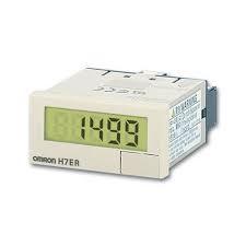 tacometro omron, display de 8 digitos, alimentação bateria, 48x24x48,5mm, velocidade 10khz, entrada PNP/NPN universal DC  H7ER-NV1-B