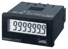 contador omron, display de 7 digitos, alimentação bateria, 48x24x48,5mm, time counter/999h59m59s ou 9999h59.9m seleciona  H7ET-NFV1-B