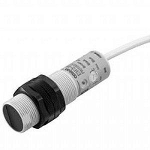 sensor fotoelétrico/DS:300mm/difuso/NPN/conector M12  E3F3-D17