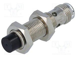 sensor indutivo DC 3 fios, 12mm de diâmetro, NA, NPN, distância de detecção: 8mm, faceado, com conector, ambiente de ope  E2A-M12LN08-M1-C1
